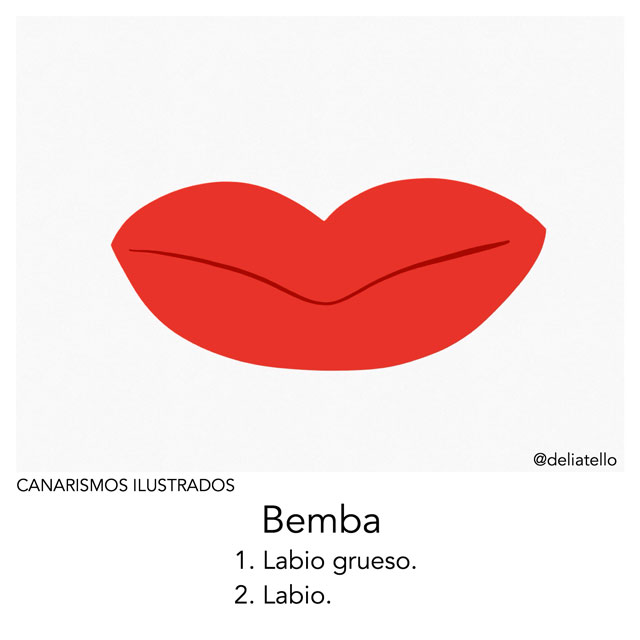 Bemba - canarismos ilustrados