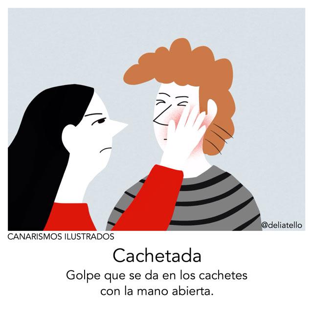 cachetada - canarismos ilustrados