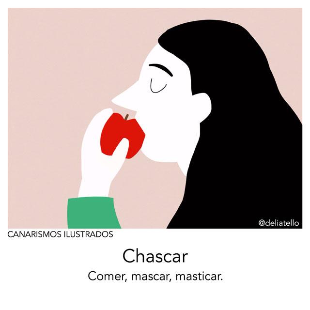 chascar - canarismos ilustrados