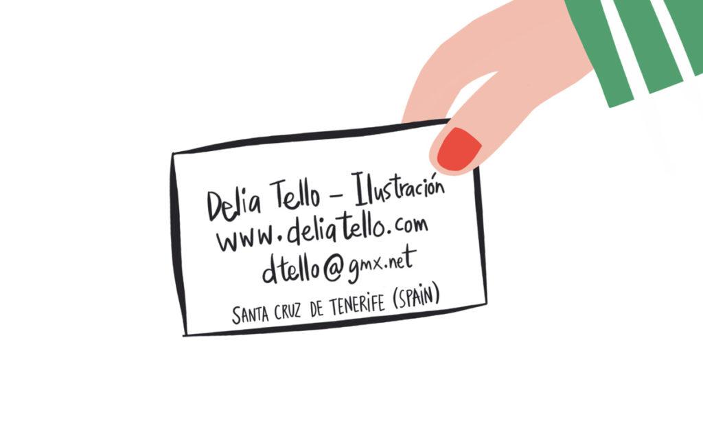 contacto Delia Tello / Ilustración